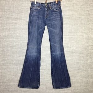 7 For All Mankind Sz 26 Flare Jeans Inseam 31.5""